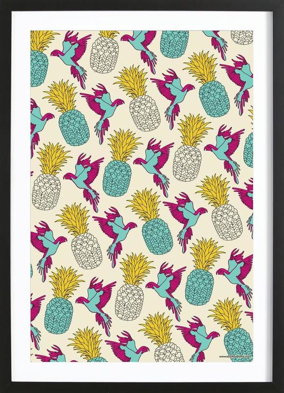 Wrapping Paper Pineapple Framed Print