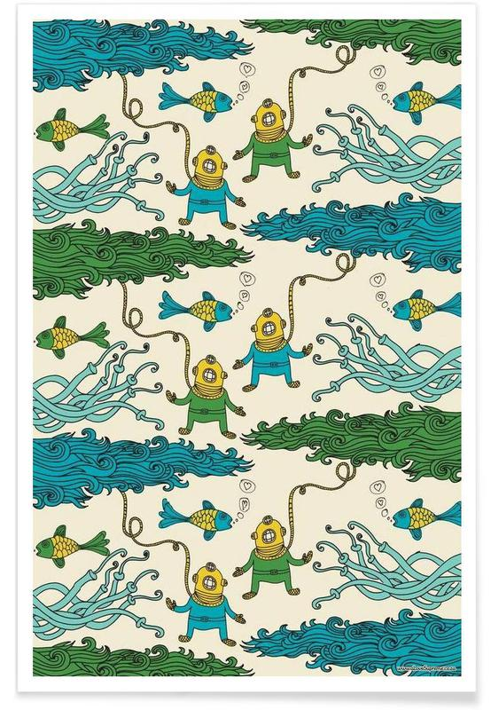 Wrapping Paper Submerged poster