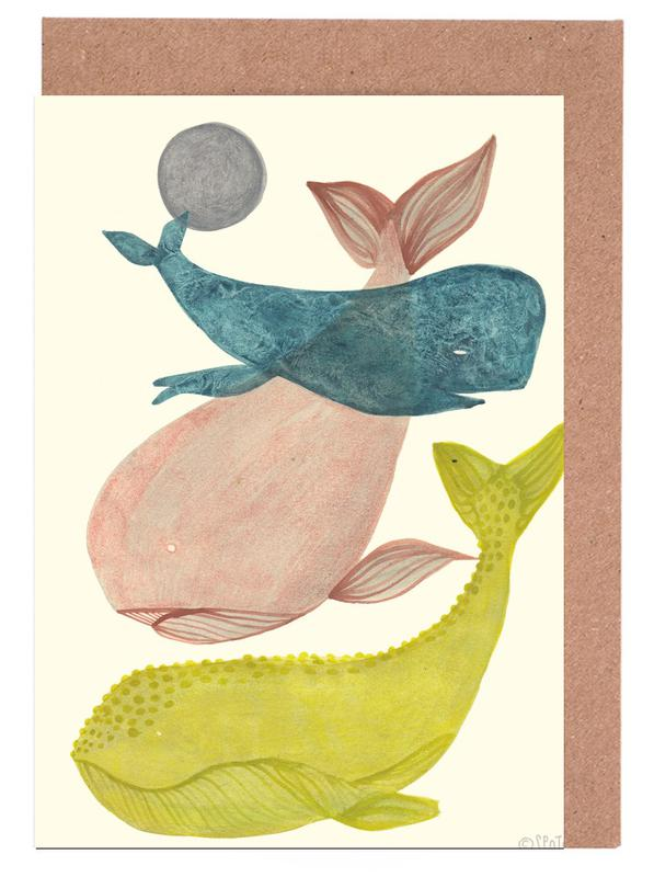 It´s Raining Whales II Greeting Card Set