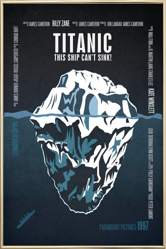 Titanic Poster im Alurahmen