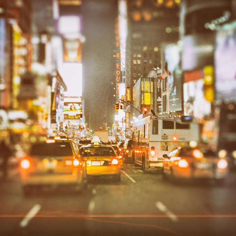 Saturday Night in New York City -Acrylglasbild