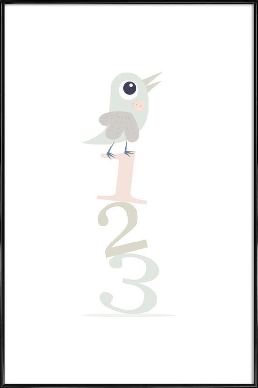 123 Birds Gerahmtes Poster