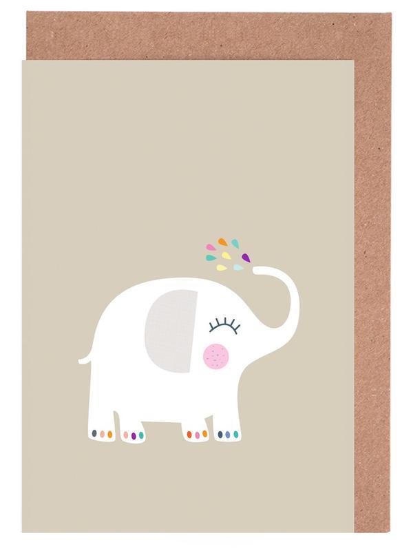 Elephant Rainbow Grußkartenset