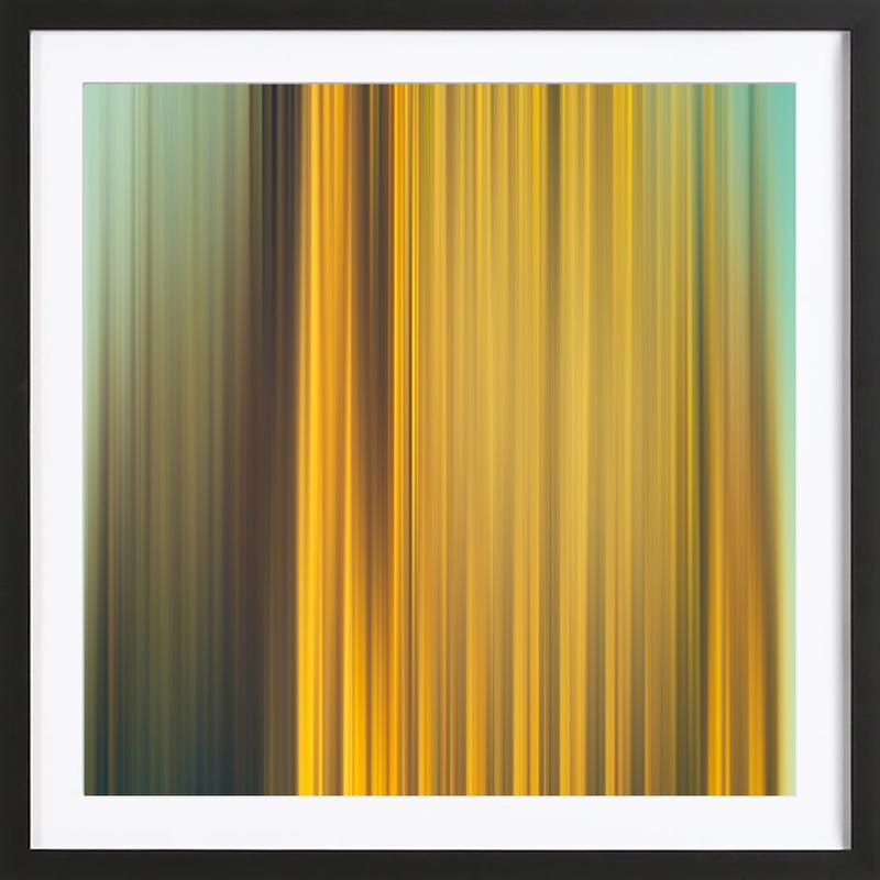 Golden Cliff -Bild mit Holzrahmen