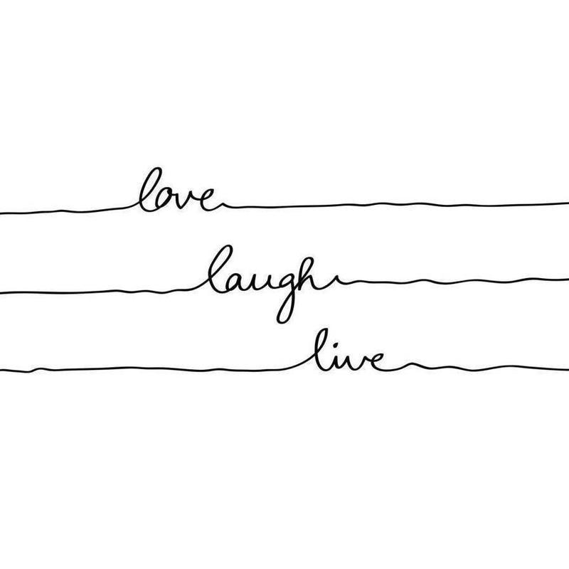 Love Laugh Live -Leinwandbild