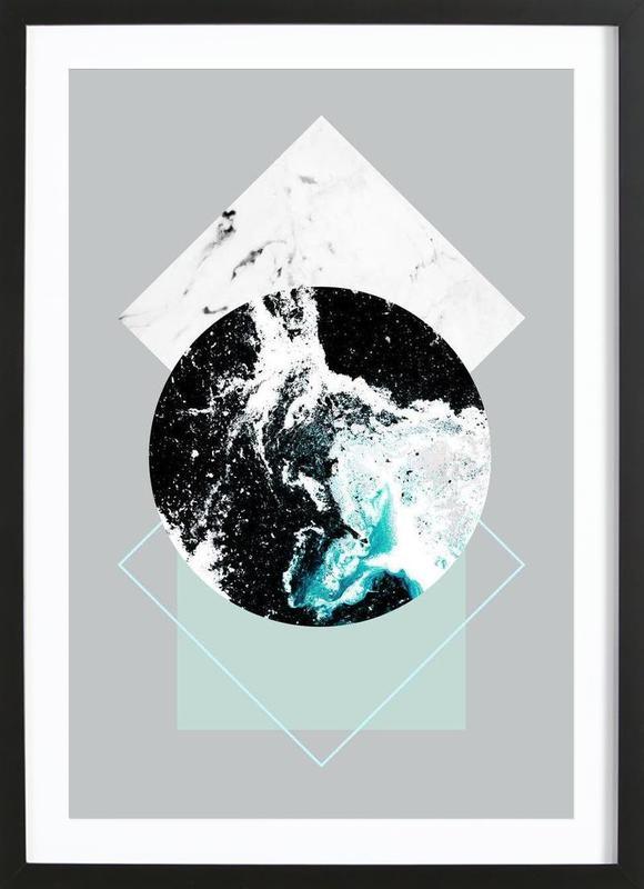 Geometric Textures 2 ingelijste print