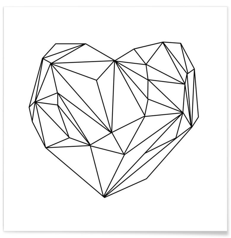 Herz-Grafik -Poster
