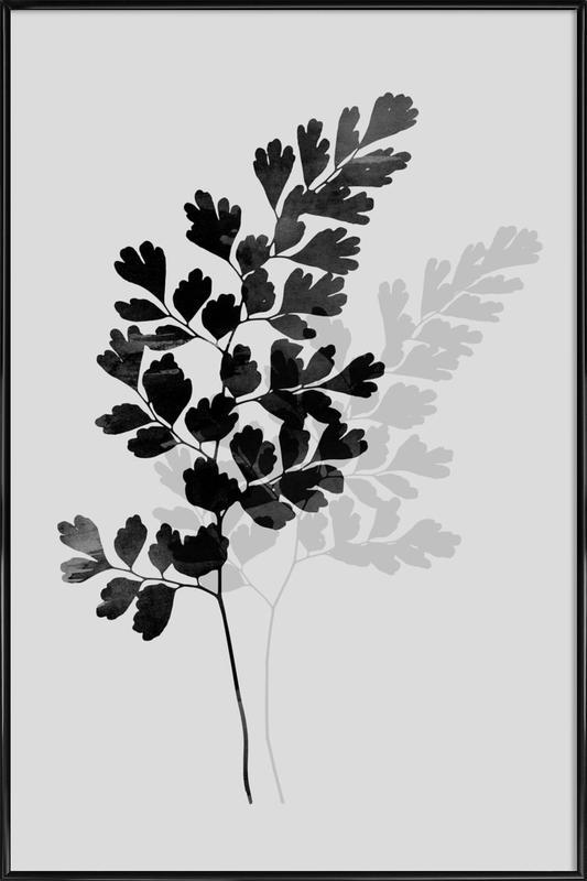 Watercolor Leaves 14 -Bild mit Kunststoffrahmen