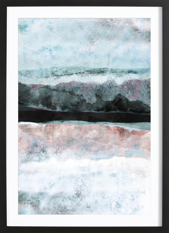 Watercolors 24X -Bild mit Holzrahmen