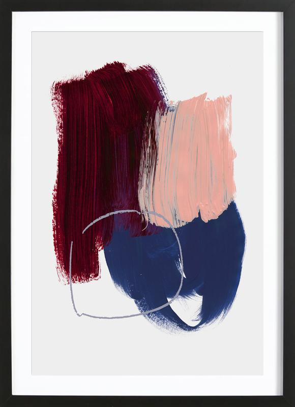 Abstract Brush Strokes 10X Framed Print
