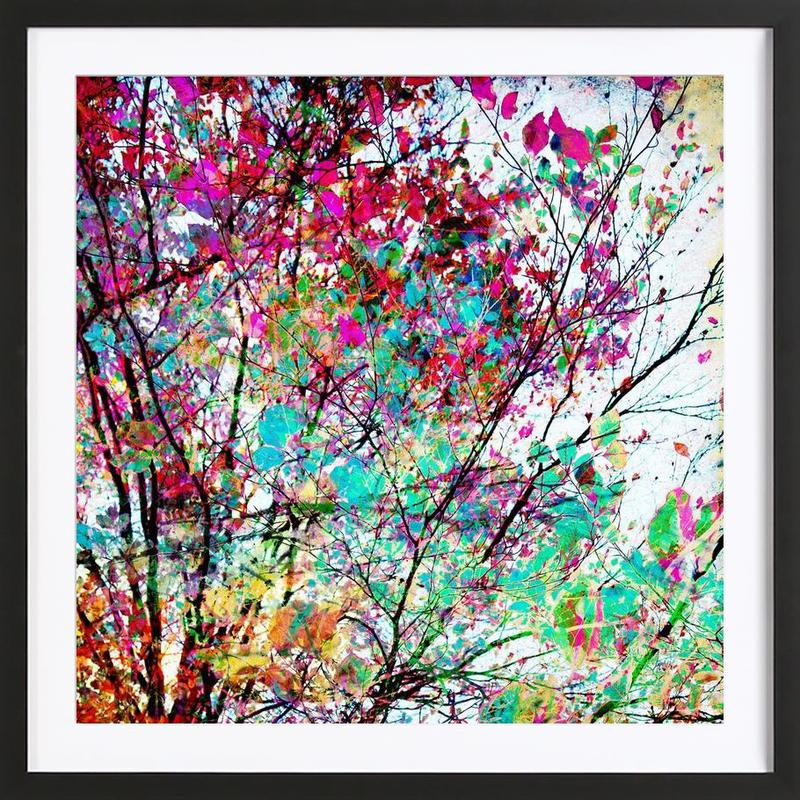 Autumn 8 -Bild mit Holzrahmen