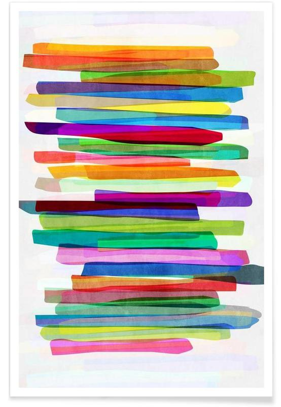 Colorful Stripes 1 -Poster