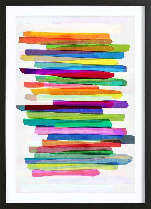 Colorful Stripes 1 Framed Print