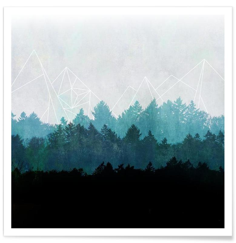 Woods Abstract poster