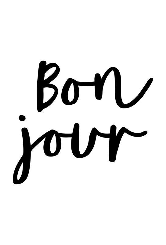 Bonjour Acrylglasbild | Dekoration > Bilder und Rahmen > Bilder | Mehrfarbig | Aluminium