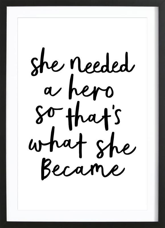 A Hero affiche sous cadre en bois