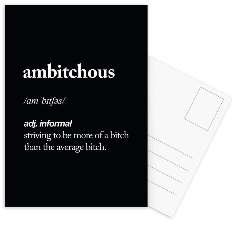 Ambitchous -Postkartenset