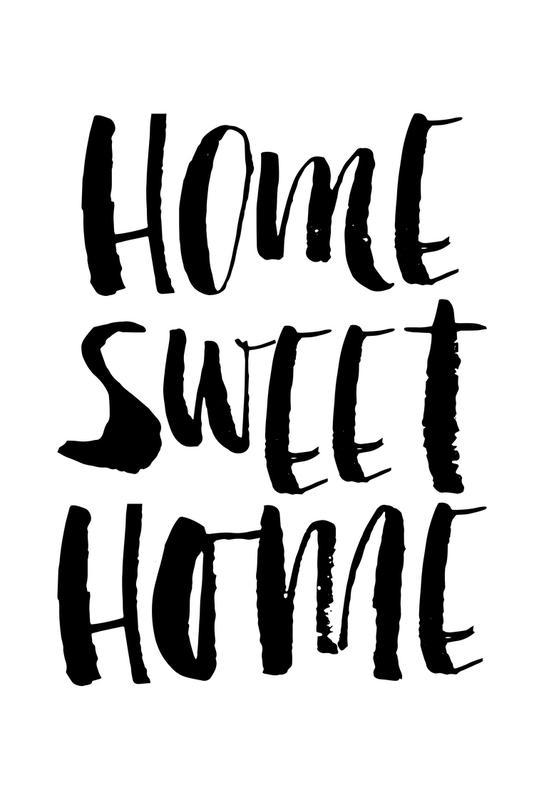home sweet home acrylglasbild