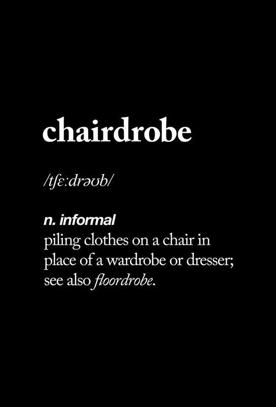 Chairdrobe -Acrylglasbild