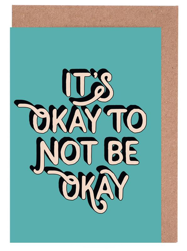 It's Okay to Not Be Okay Greeting Card Set