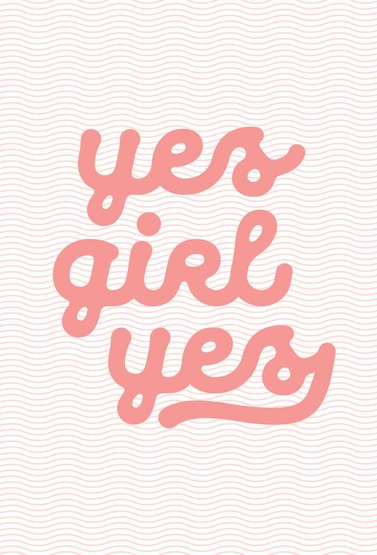 Yes Girl Yes -Acrylglasbild