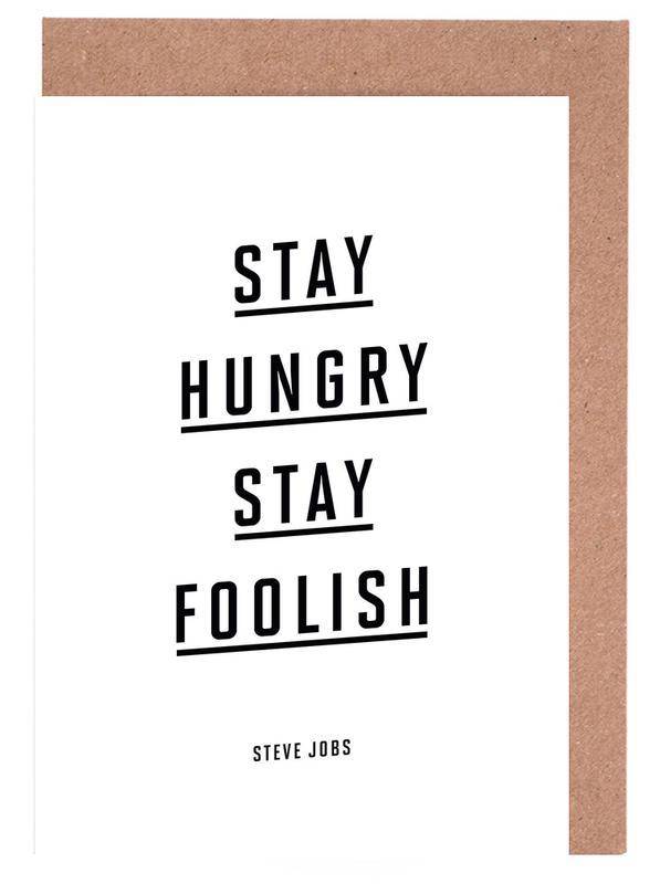 Stay Hungry Stay Foolish Steve Jobs Grußkartenset