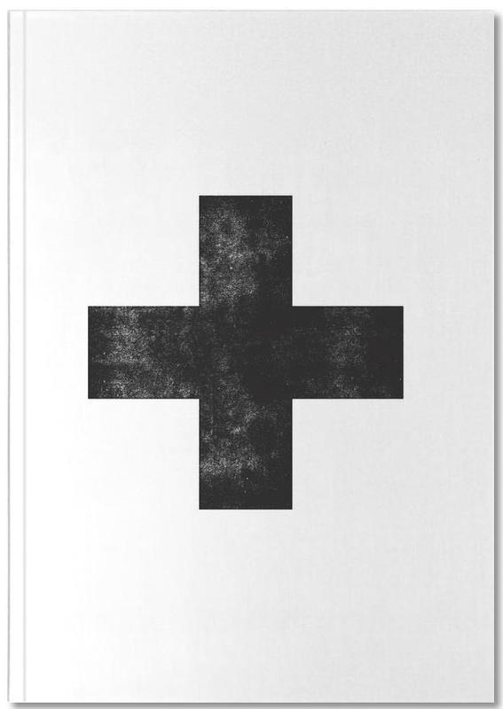 Swiss Cross White Notebook