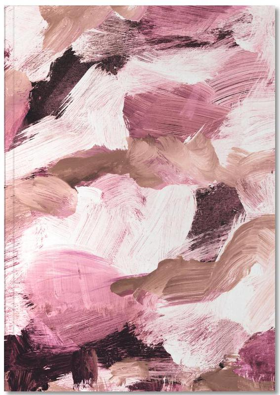 Abstract Painting VI Coffee and Rose Notebook