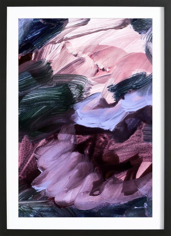 Abstract Painting VII -Bild mit Holzrahmen