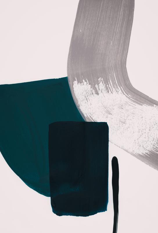 Minimalist Painting 02 Impression sur alu-Dibond