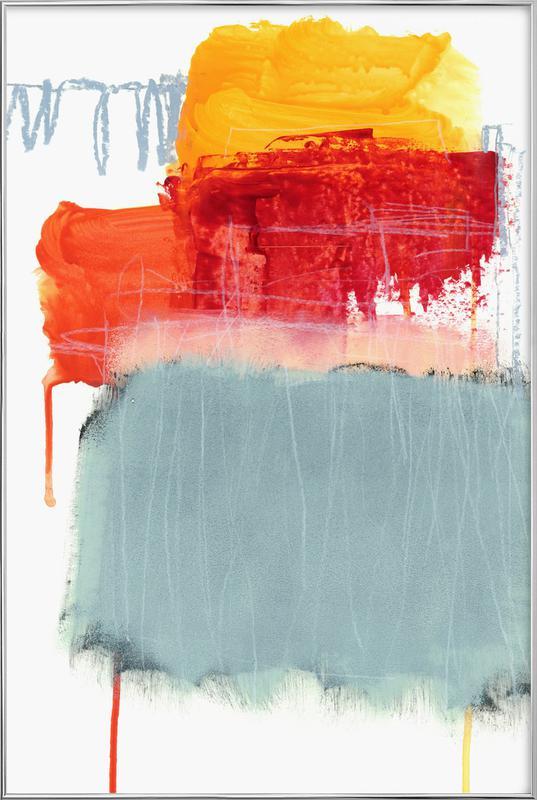 Layered Color 2 -Poster im Alurahmen