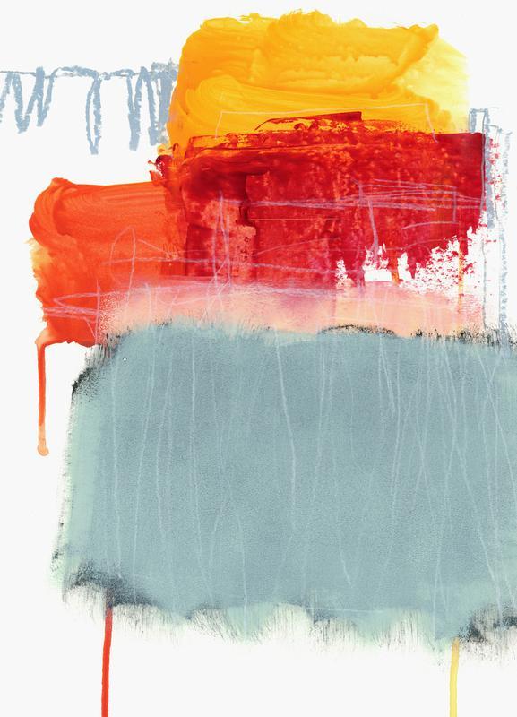 Layered Color 2 -Leinwandbild