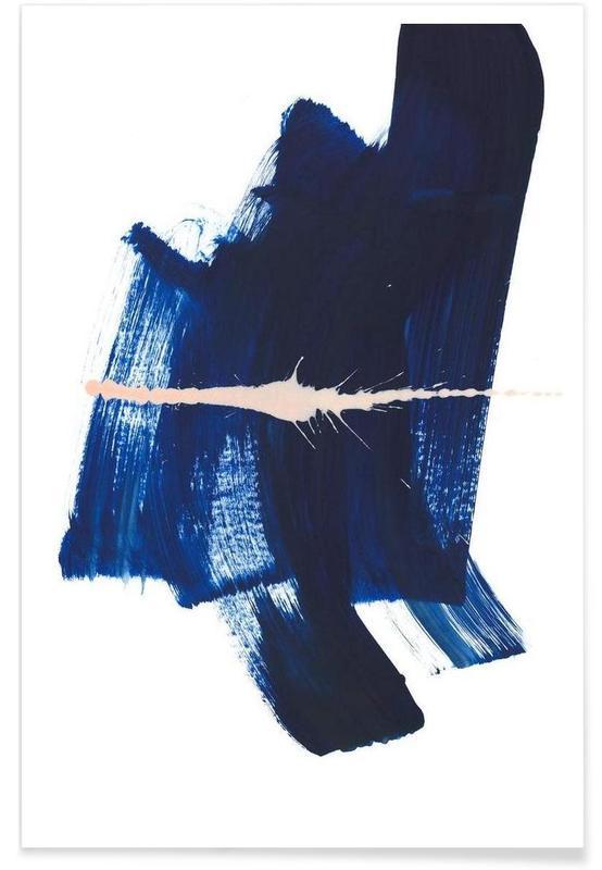 Abstract Dark Blue póster