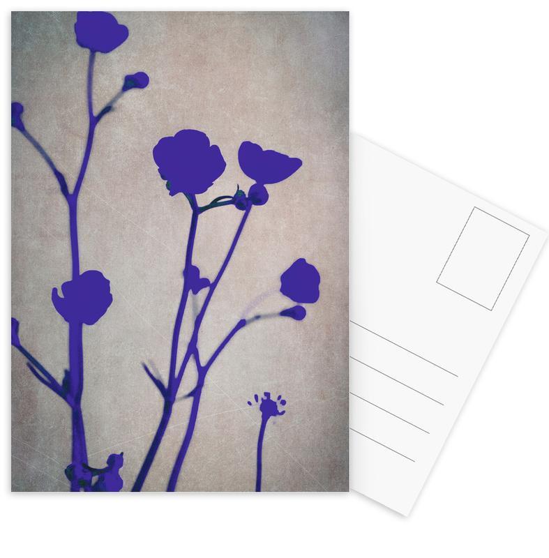 Blue Silhouettes Postcard Set