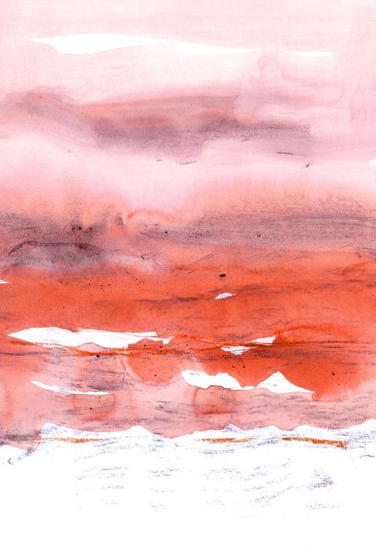 Pink and Modern Orange Aluminium Print