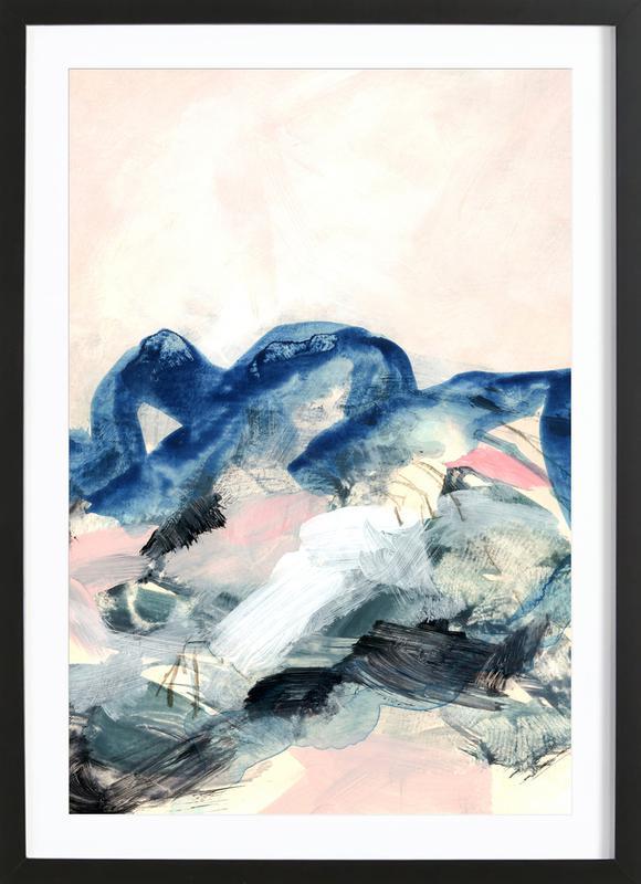 Abstract Painting II -Bild mit Holzrahmen