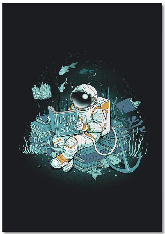 A reader lives a thousand lives - Cosmonaut Under The Sea Notebook