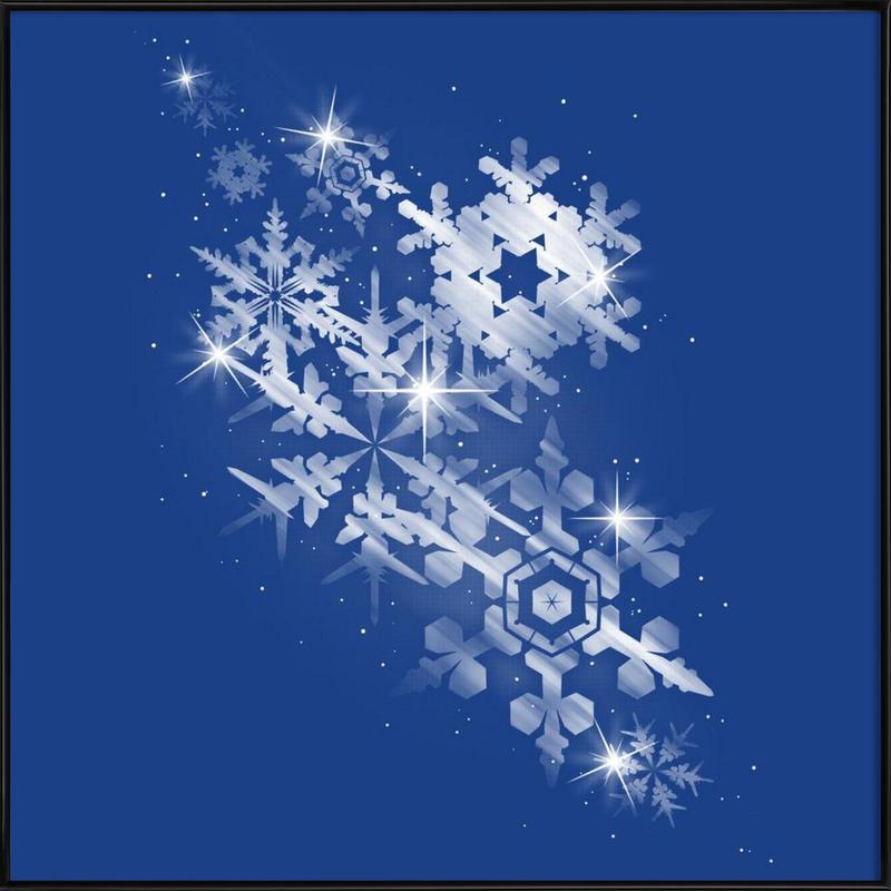 Snowflakes of hope Gerahmtes Poster | Dekoration > Bilder und Rahmen > Poster | Mehrfarbig