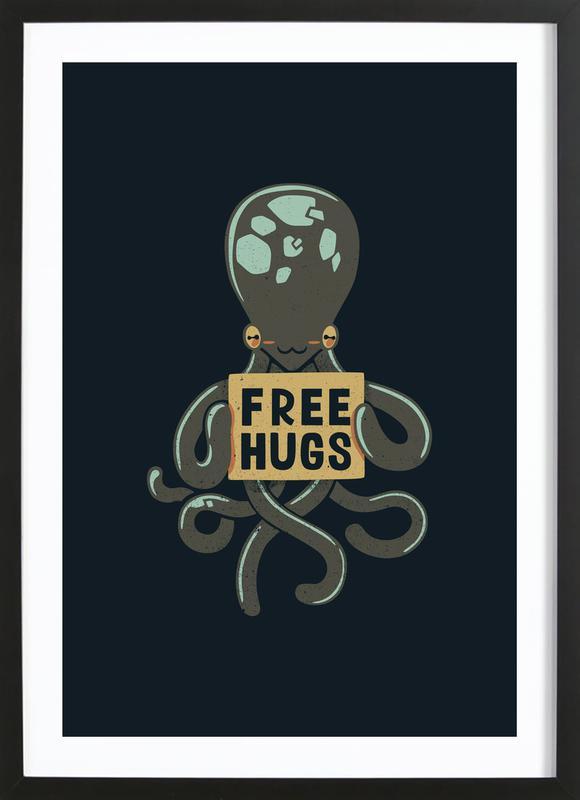 Free Hugs Octopus Framed Print