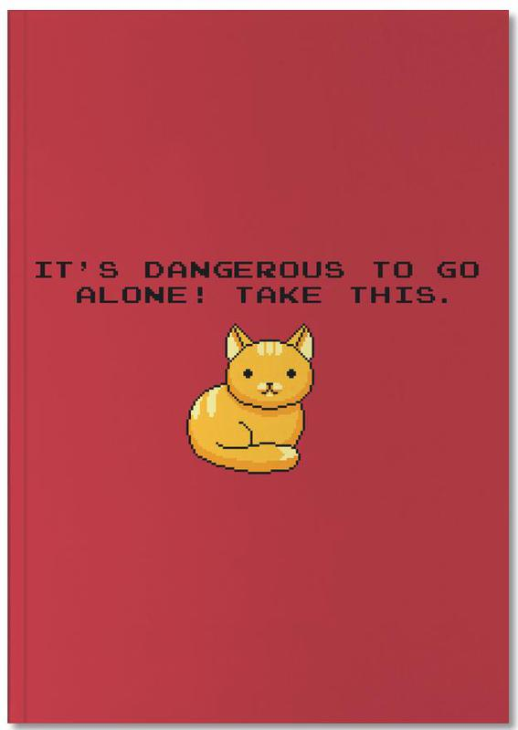 Its Dangerous To Go Alone Take This Cat Notebook