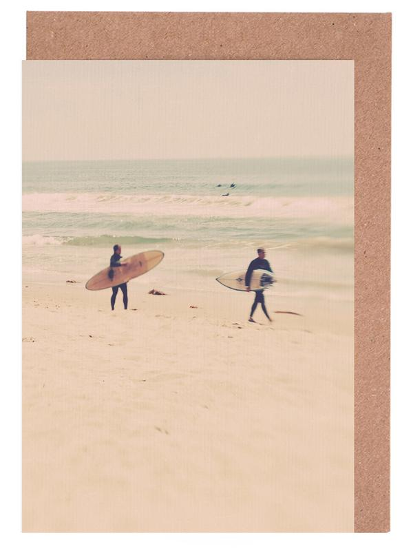 Two Surfers Greeting Card Set