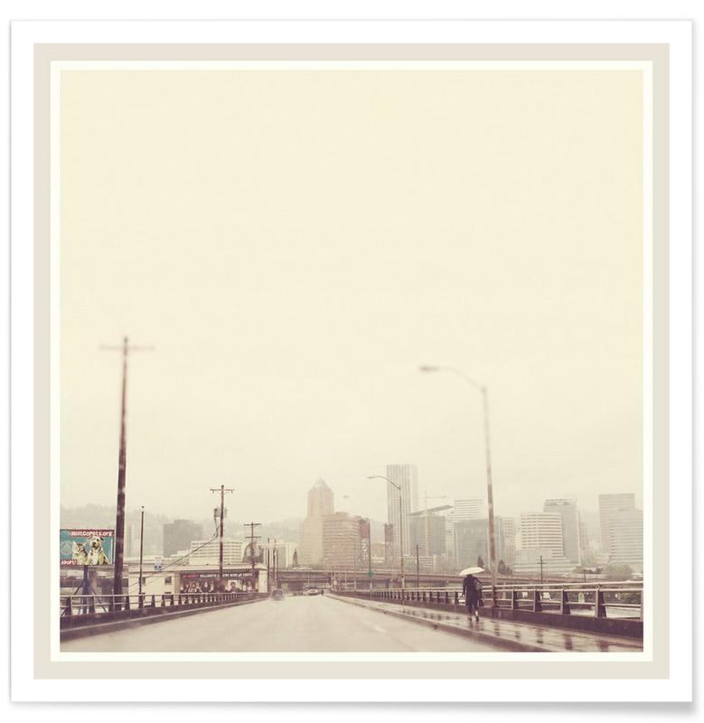 Rainy Spring Portland -Poster