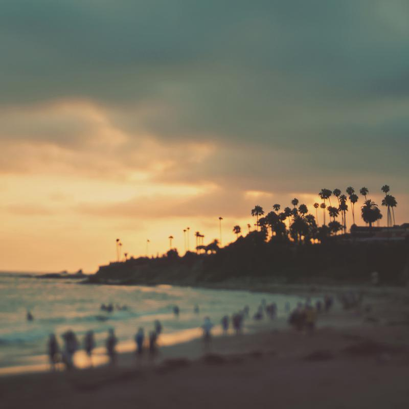 Laguna Beach Sunset No.1 alu dibond