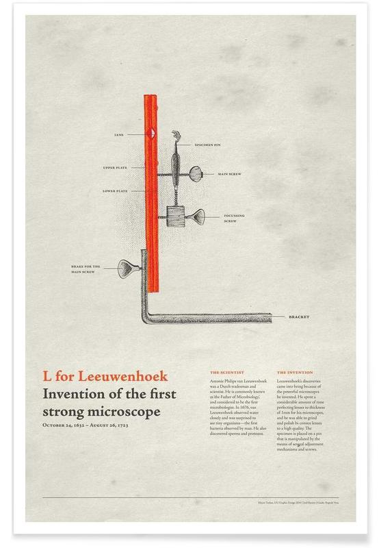 L for Leeuwenhoek poster