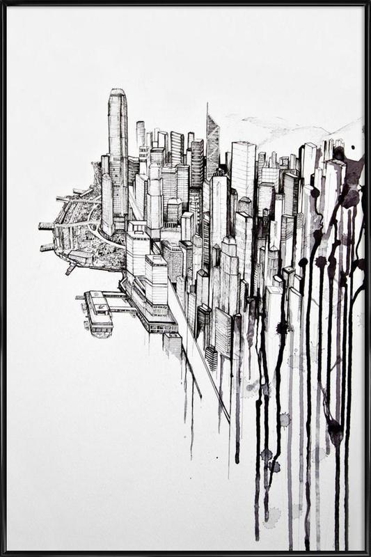 Reclaimed -Bild mit Kunststoffrahmen