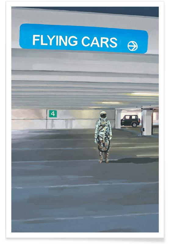 Flying Cars To The Right poster