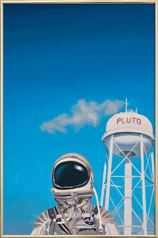 Pluto Poster in Aluminium Frame