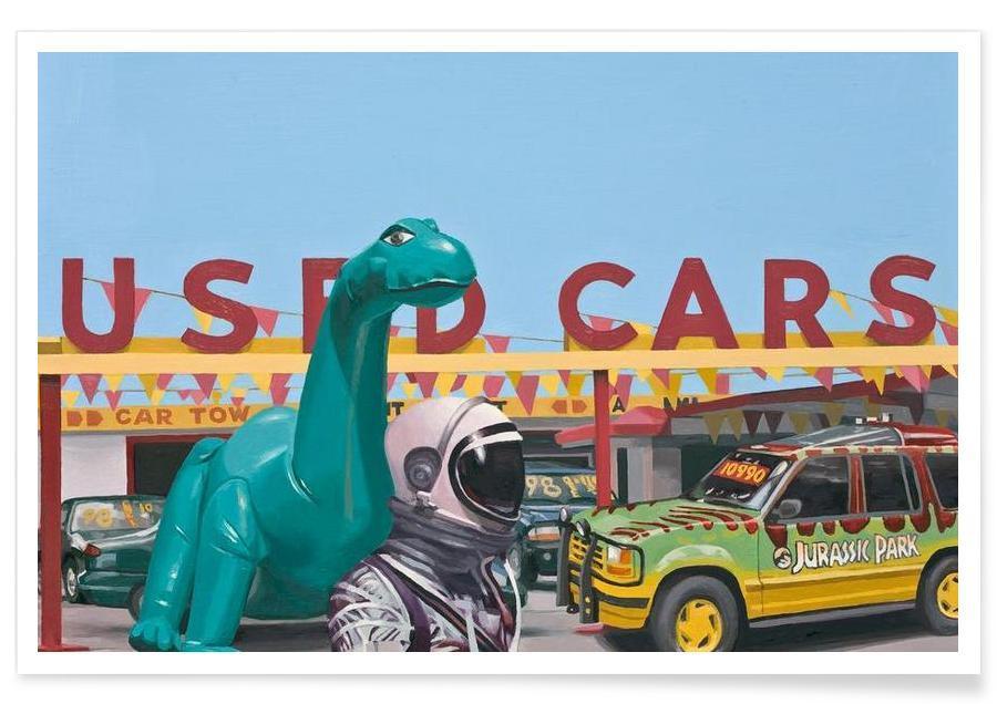 Jurassic Parking Lot Poster