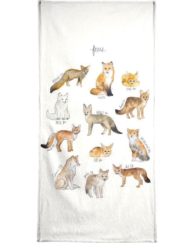 Foxes Bath Towel