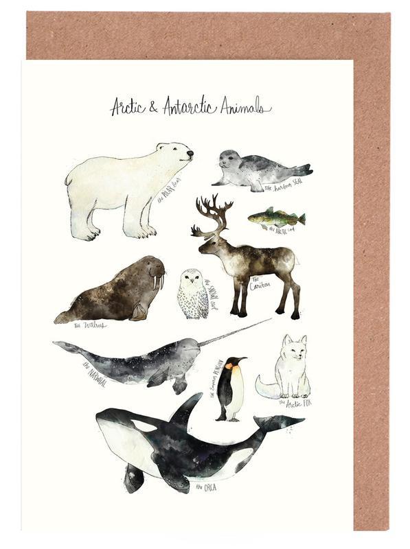 Arctic and Antarctic Animals -Grußkarten-Set